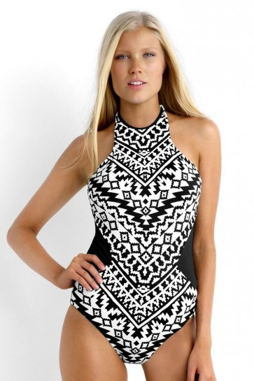Kasbah High Neck One Piece Maillot