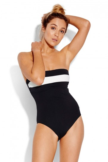 Pop Block DD Cup Bandeau One Piece Seafolly