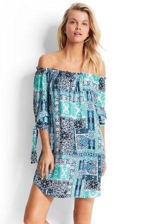Silk Road Off Shoulder Dress