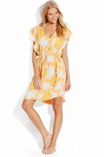 Buttercup Sunflower Ruffled Cover Up Seafolly