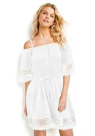 Lace Hem Smock Dress