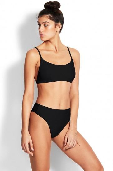 Essentials Bralette High Rise Bikini Set Seafolly