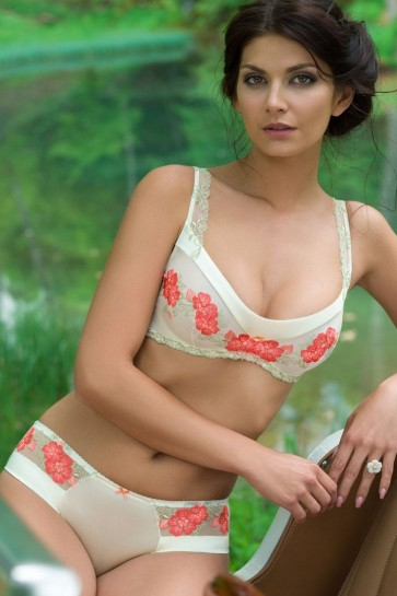Amadin soft-cup bra Champagne