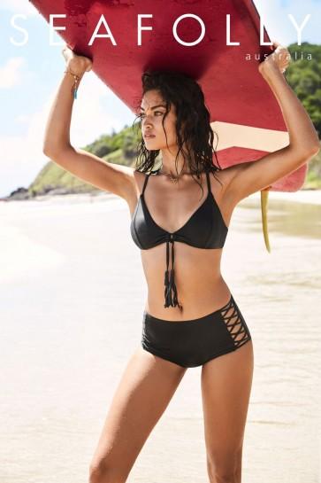 Seafolly Loop Front Bralette Bikini Set