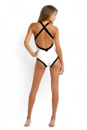 Block Party High Neck One Piece Maillot