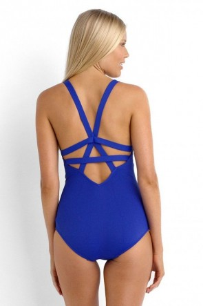 Active Swim Deep V One Piece Maillot -Blueray Seafolly