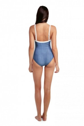 Block Party Sweetheart Maillot One Piece Seafolly Denim