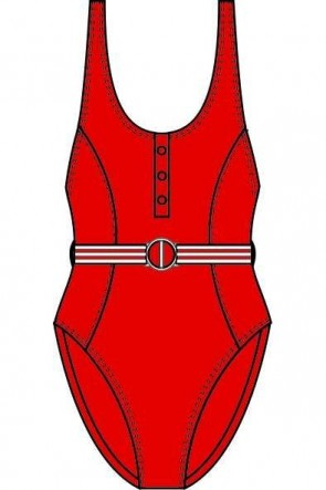 Seafolly Belted One Piece Maillot Chilli