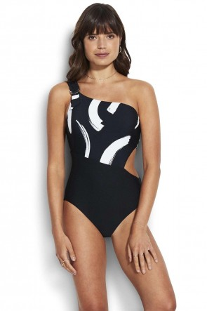 New Wave One Sholder Swimsuit Seafolly