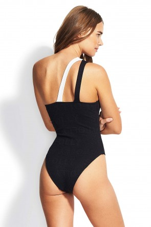Your Type One Shoulder Spliced One-Piece Seafolly