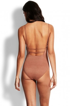 Stardust Square Neck One Piece by Seafolly