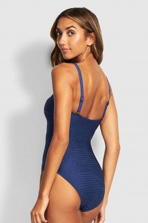 Fresh Water Square Neck One Piece by Seafolly