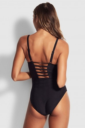 Capri Sea DD One Piece by Seafolly Black