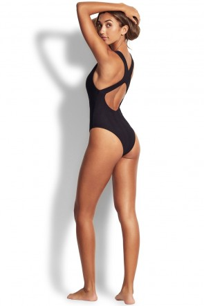 Capri Sea High Neck One Piece by Seafolly.