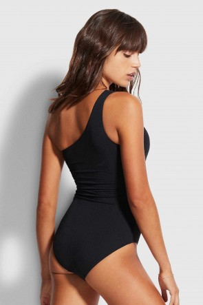 Seafolly Active One Shoulder Maillot