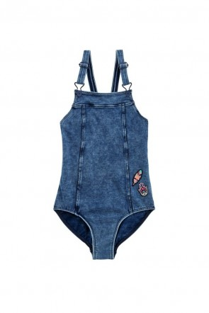Moonchild Denim Dungaree One-Piece Seafolly Big Girls