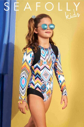 One Kids Desert Rose Long Sleeve L/S Surf Tank