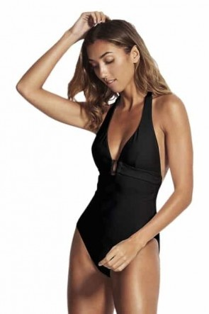 Capri Sea Halter One Piece by Seafolly Black