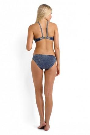Deja Blue Bralette Hipster Bikini Set Denim