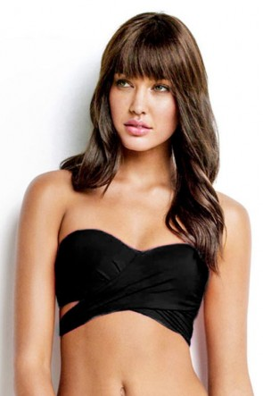 Wrap Front Bandeau Black SEAFOLLY