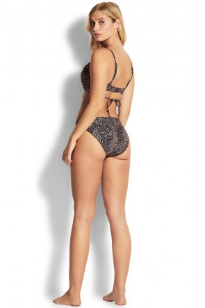 Safari Spot Wrap Front Booster Bikini Top