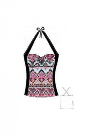 Sahara Nights Twist Front Singlet Tankini Seafolly