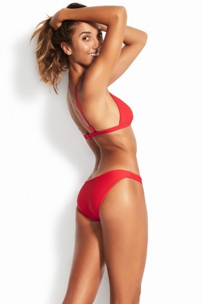 Essentials Fixed Tri Bra Bikini Set Seafolly Red