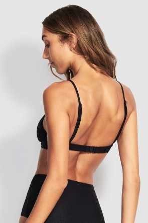 La Luna Keyhole Bralette by Seafolly Black