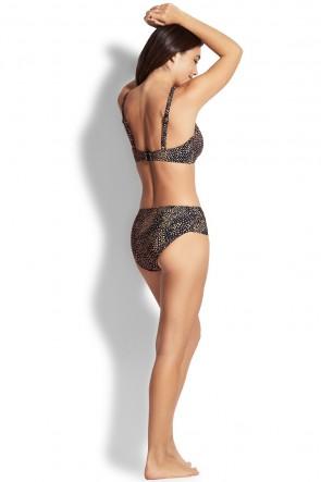Safari Spot F Cup Bralette Retro Bikini Set
