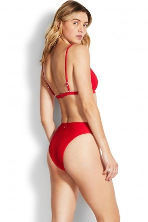 Essentials Bralette Bikini Top Red Seafolly