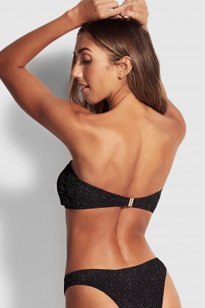Stardust Twist Bandeau Bikini Top by Seafolly