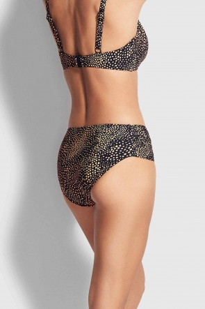 Safari Spot Ruched Side Retro Bikini Pants