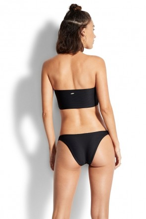 Essentials High Cut Bikini Pants Black