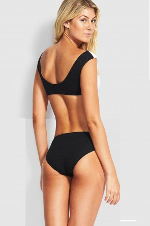 Your Type Wrap Crop Spliced Wide Side Bikini Set