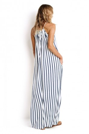 Vertical Stripe Jersey Maxi Dress SEAFOLLY