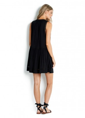 Beach Basics Ladder Detail Dress Black