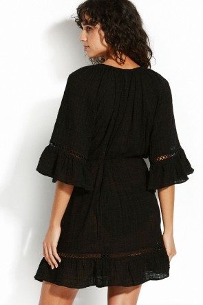 Sea Stripe Bell Sleeve Cover Up Seafolly