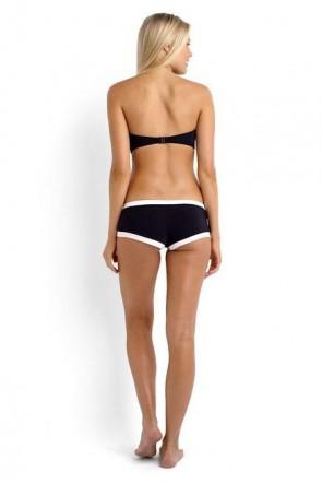 Block Party Bandeau Bustier Bikini Top with Boyleg Bikini Pant SEAFOLLY