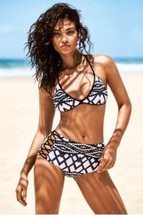 Modern Tribe Action Back Tri Bikini Set