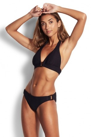 Capri Sea Halter Top Ring Side Hipster Bikini Set
