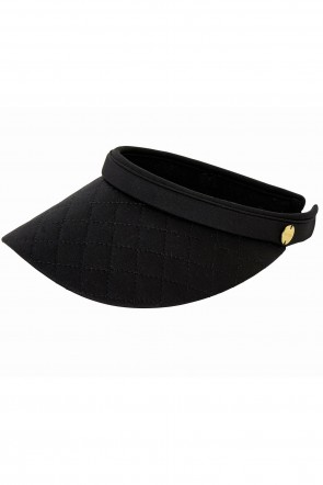 Quilted Visor by Seafolly Black