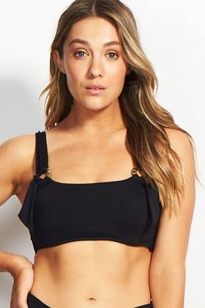 Active DD/E Cup Tank  Bikini Top Black