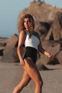 Pop Block One Sholder Swimsuit Seafolly