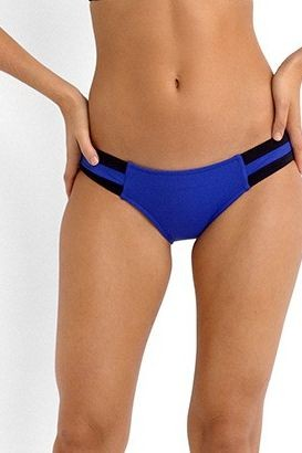 Block Party Spliced Hipster Bikini Pant- Blue Ray