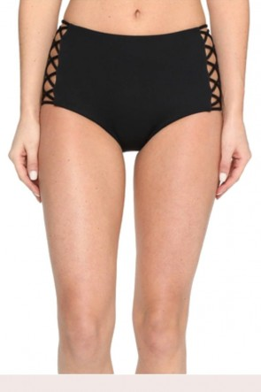 Seafolly High Waisted Lattice Bikini Pant BLACK
