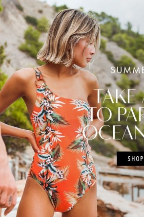 Ocean Alley One Sholder Swimsuit Seafolly Tangelo