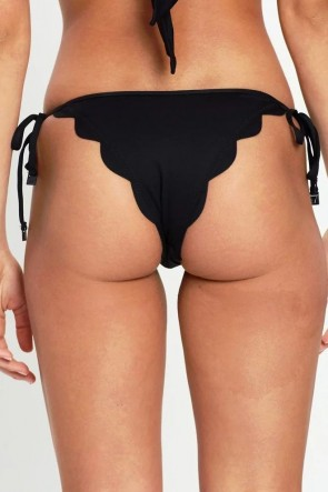 Petal Edge Brazilian Tie Side Bikini Pant Seafolly Black 40571-065