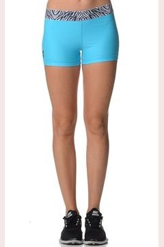 Aqua Blue Lycra Workout Shorts