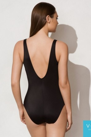 Charm V Neck One Piece Swimsuit