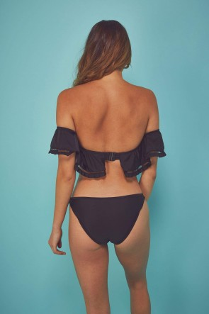 Fishnet And Frill Eco Bardot One Piece